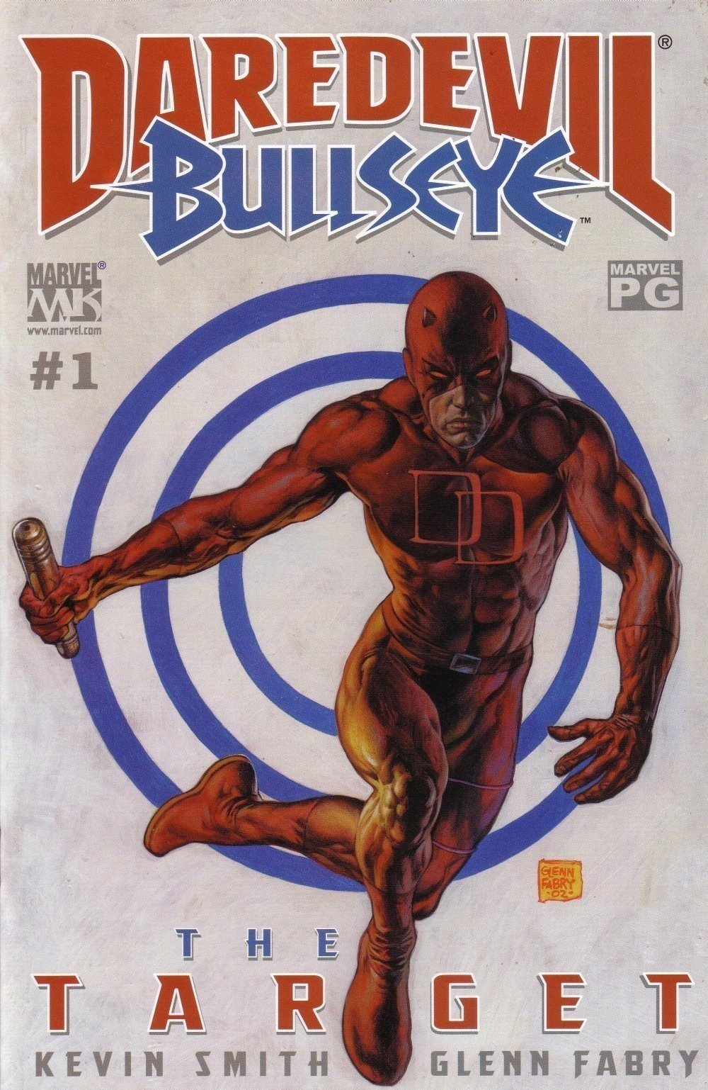 glenn fabry. daredevil - bullseye. the target. no. 001. cover