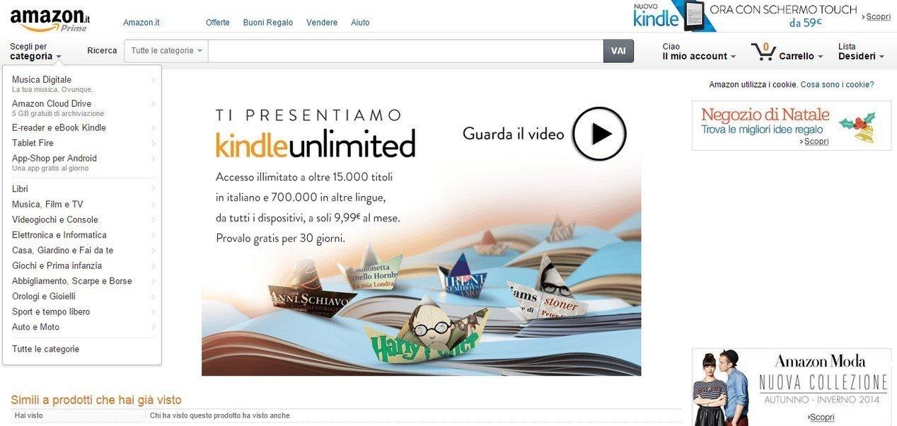 899f7c8a78aa02 Amazon, arriva Kindle Unlimited: 700mila libri e fumetti disponibili