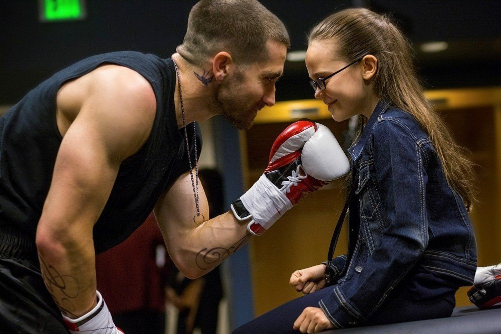 (L-R) JAKE GYLLENHAAL and OONA LAURENCE star in SOUTHPAW  © 2014 The Weinstein Company. All Rights reserved. / Credit: Scott Garfield