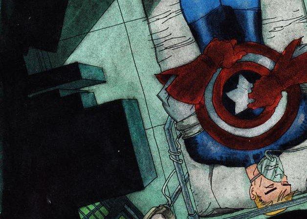 Una pagina da Captain America: Bianco