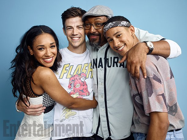 THE FLASH L to R: CANDICE PATTON, GRANT GUSTIN, JESSE L. MARTIN and KEIYNAN LONSDALE Comic-Con 2016 Day 3 - July 23, 2016 – San Diego, CA Photograph by Matthias Clamer