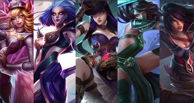 Alcuni dei personaggi femminili presenti su LoL