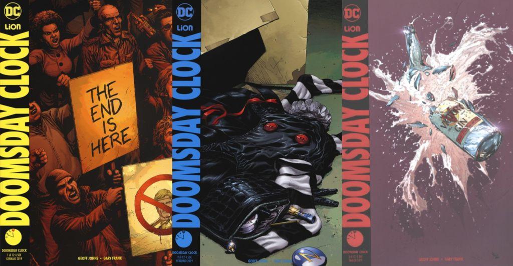 rw lion, dc, doomsday clock, geoff johns, gary frank