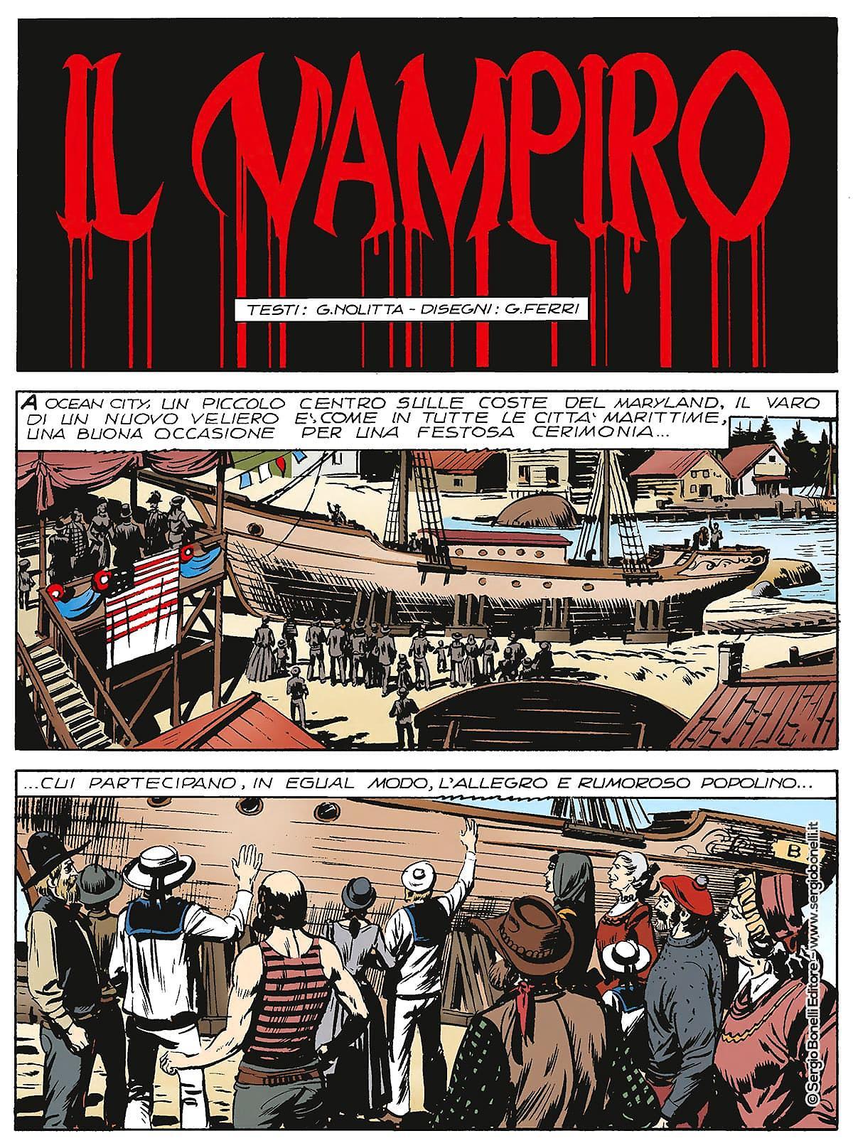 Zagor - Il Vampiro - tavola 1