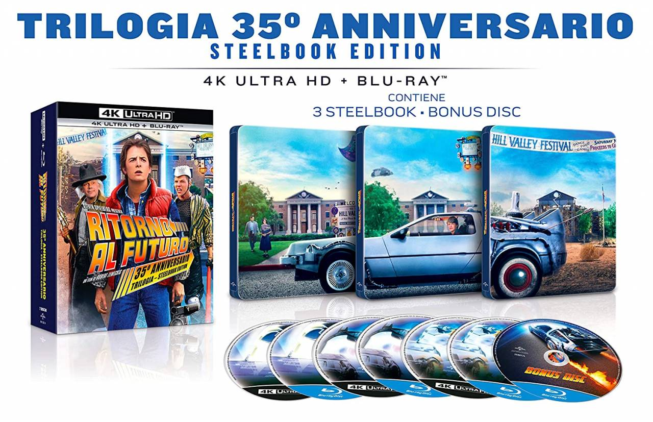 Ritorno al Futuro Edizione 35° Anniversario Trilogy Limited Steel Box Collection (4K UHD)